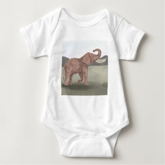 A savannah elephant baby bodysuit