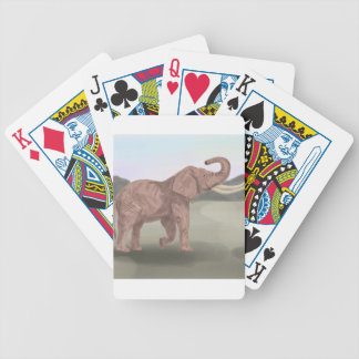 A savannah elephant bicycle playing cards