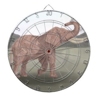 A savannah elephant dartboard