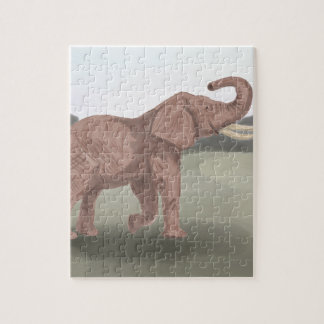 A savannah elephant jigsaw puzzle