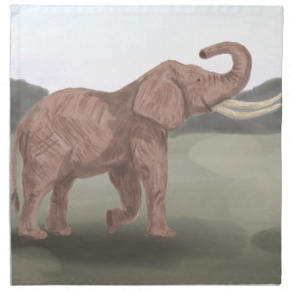 A savannah elephant napkin