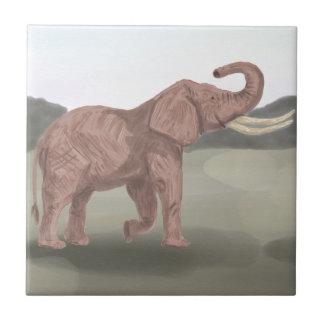 A savannah elephant tile