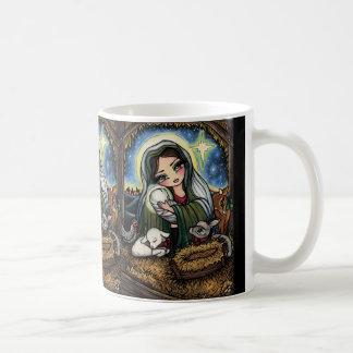 A Savior is Born Virgin Mary Nativity Christmas Coffee Mug