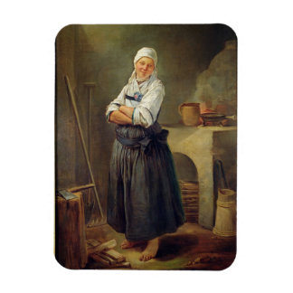 A Saxon Villager in her Kitchen (oil on canvas) Rectangular Photo Magnet