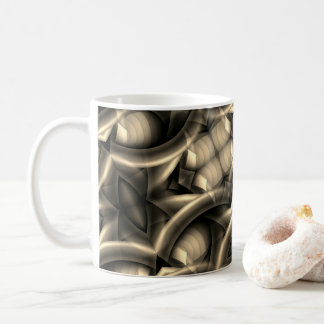 A scary pattern in sepia coffee mug