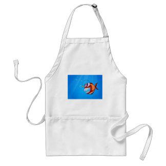 A scary piranha under the sea standard apron