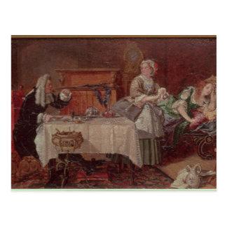 A Scene from 'Tartuffe' by Moliere, 1850 Postcard