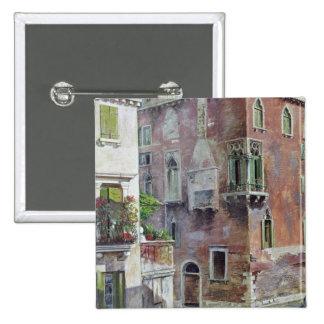 A Scene in Venice 15 Cm Square Badge