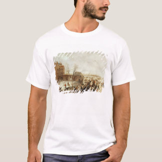 A Scene on the Ice near a Town, c.1615 T-Shirt