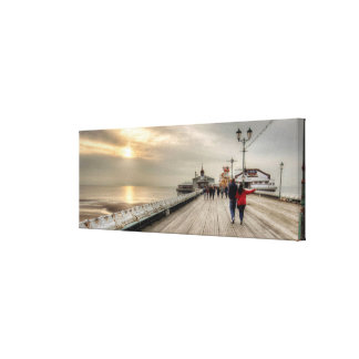 A Scenic Coastal View Blackpool Pier Canvas Print