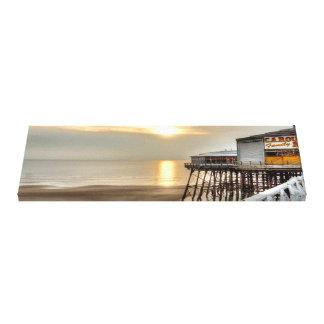 A Scenic Coastal View Sunny Blackpool Beach Canvas Print