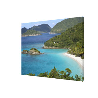 A scenic of Caneel Bay from a road at St. John Canvas Prints