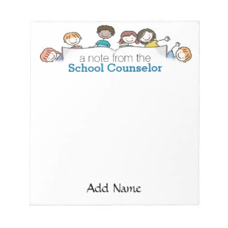 A School Counsellor's Custom Notepad