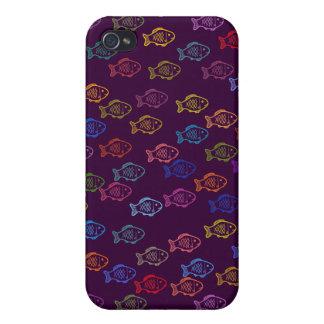 A School of Fish Doodle Art Speck Case iPhone 4 Case
