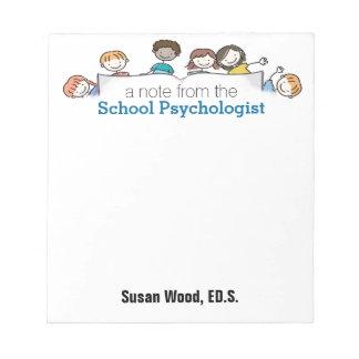 A School Psychologist's Custom Notepad