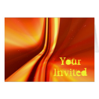 A Sci-Fi kind of invite Greeting Cards