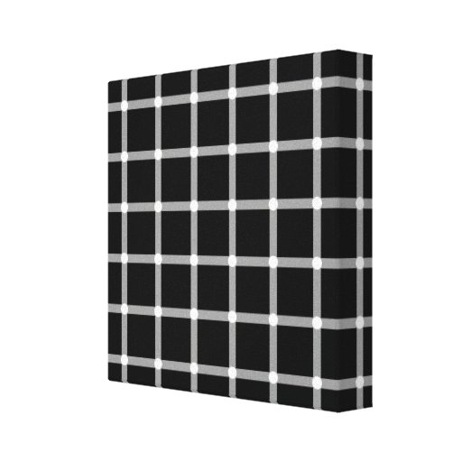 A scintillating grid optical illusion gallery wrap canvas