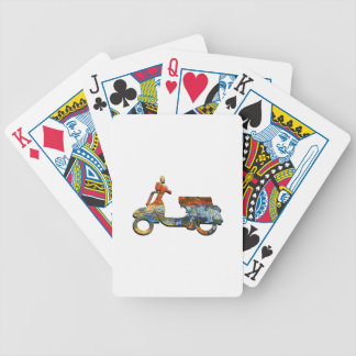 A SCOOTING ALONG BICYCLE PLAYING CARDS