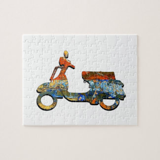 A SCOOTING ALONG JIGSAW PUZZLE