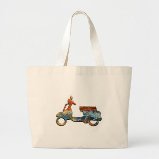 A SCOOTING ALONG LARGE TOTE BAG