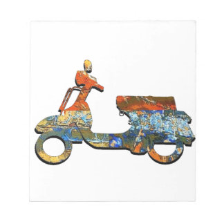 A SCOOTING ALONG NOTEPAD