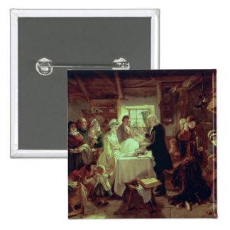 A Scottish Christening 15 Cm Square Badge