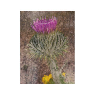 A Scottish Thistle Wood Poster