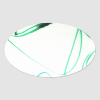 A Scribble or a Scrawl Oval Sticker