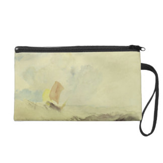 A Sea Piece - A Rough Sea with a Fishing Boat, 182 Wristlet Purse