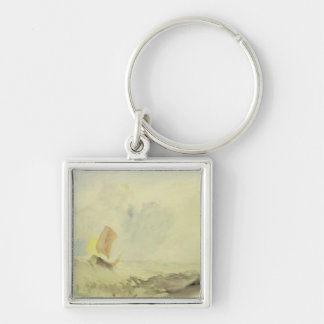 A Sea Piece - A Rough Sea with a Fishing Boat, 182 Keychain