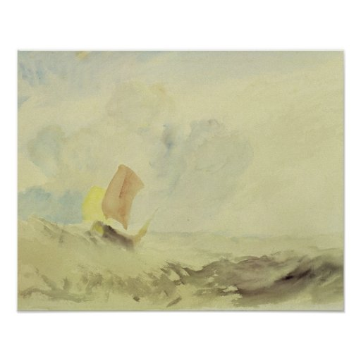 A Sea Piece - A Rough Sea with a Fishing Boat, 182 Posters