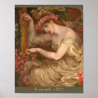 A sea-spell by Dante Gabriel Rossetti CC0047 Poster