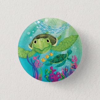 A Sea Turtle Rescue 3 Cm Round Badge
