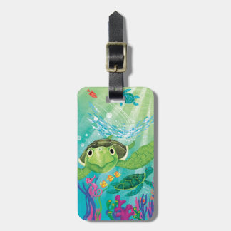 A Sea Turtle Rescue Luggage Tag