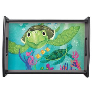 A Sea Turtle Rescue Serving Tray