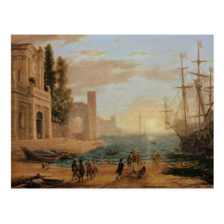 A Seaport, 1639 Postcard