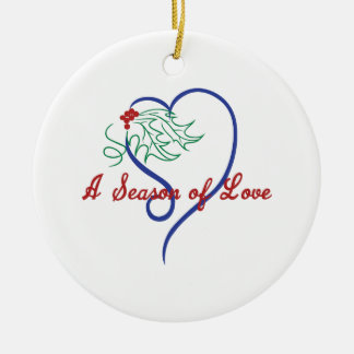 A Season Of Love Round Ceramic Decoration