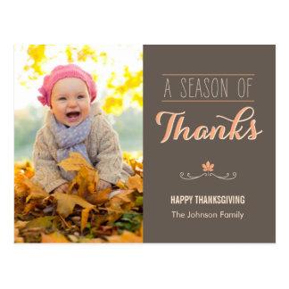 A Season of Thanks Thanksgiving Photo Card