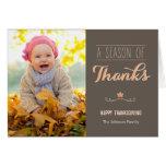 A Season of Thanks Thanksgiving Photo Card Card