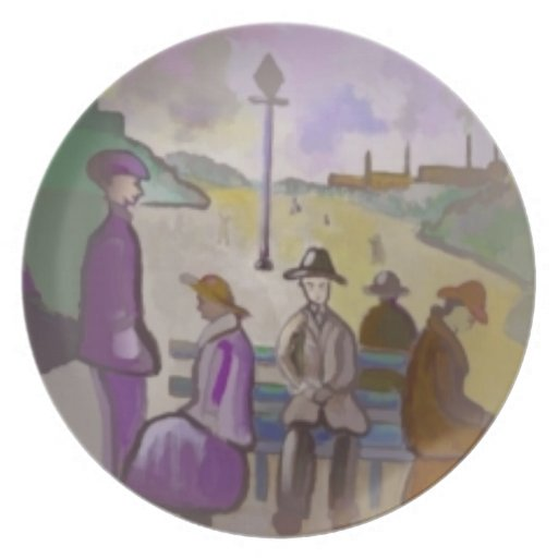 A seat in the park digitally altered Plate