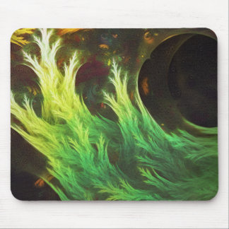 A Seaweed's DeepDream of Faded Fractal Fall Colors Mouse Pad