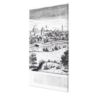 A Section of a Map of Milan, 1640 Canvas Print