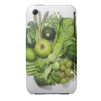 A selection of green fruits & vegetables. iPhone 3 case