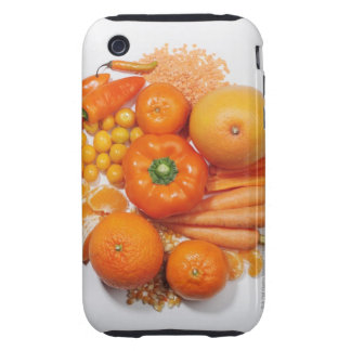 A selection of orange fruits & vegetables. iPhone 3 tough cases