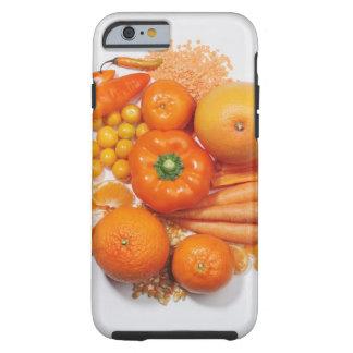 A selection of orange fruits & vegetables. tough iPhone 6 case