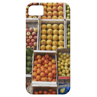 A selection of organic boxed fruit on iPhone 5 cover