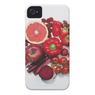 A selection of red fruits & vegetables. iPhone 4 cases