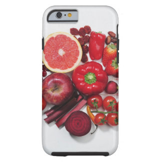 A selection of red fruits & vegetables. tough iPhone 6 case