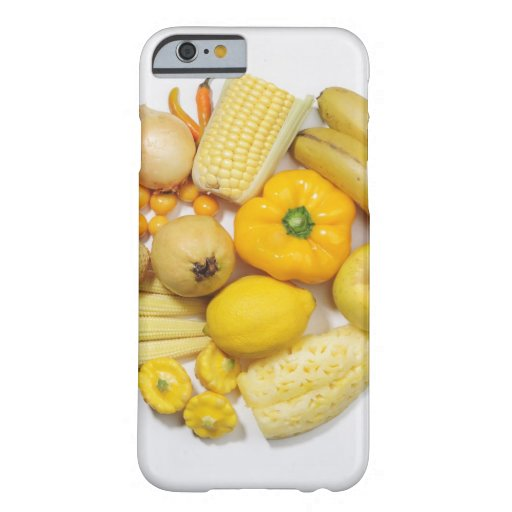 A selection of yellow fruits & vegetables. iPhone 6 case