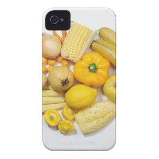 A selection of yellow fruits & vegetables. iPhone 4 case